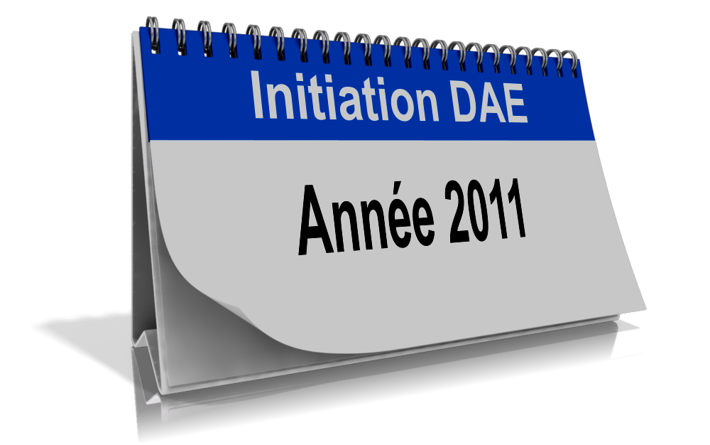 Calendrier Initiation DAE